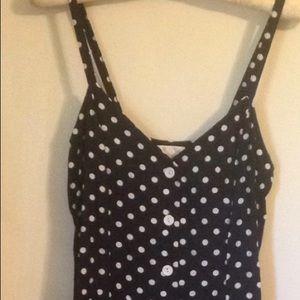Dark Navy with white polka dots dress